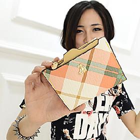 Yun Candy Color bj?rn Grid Kort Purse (Orange) (1430213) photo