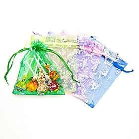 Organza Favor Holder with Ribbons Favor Bags - 12