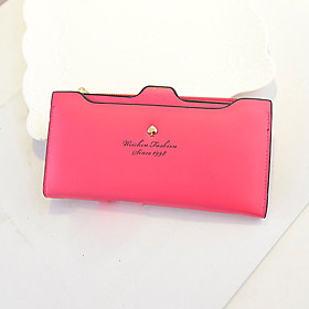 Yun Peach Heart Contracted Color Long Purse (1430329) photo