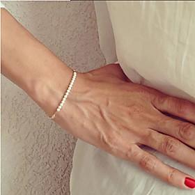 shixin europaischen Perle 23cm Frauen weie Perle Strang Armband (1 PC) Schmuck