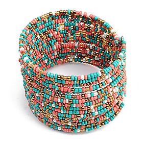 Boho Chic mehrreihige Perlen Armband Schmuck Frauen (verschiedene Farben)