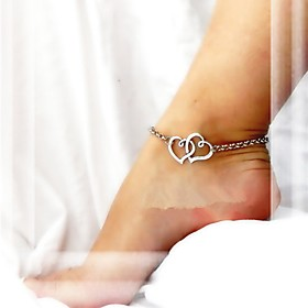 Anklet/Bracelet Alloy Unique Design Fashion Heart Jewelry Silver Golden Women's Jewelry Party Daily Casual Christmas Gifts 1pc
