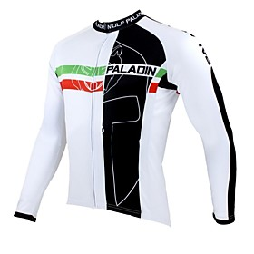 ILPALADINO Cycling Jersey Men's Long Sleeve Bike Jersey Tops Thermal / Warm Quick Dry Ultraviolet Resistant Breathable 100% Polyester 1383296