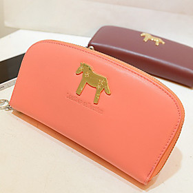 Yun Fashion Small Horse Zipper Long Purse (Orange) (1430414) photo