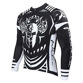 PALADIN Cycling Jersey Men's Long Sleeve Bike Breathable / Thermal / Warm / Quick Dry / Ultraviolet Resistant Jersey / Tops100%