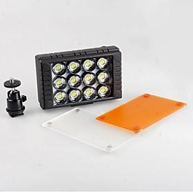 Wansen 12 12 Led Videolys 10w 5600k/3200k Cameralight Til Canon Nikon Dslr Kamera Videokamera