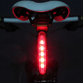 LED Bike Light Rear Bike Tail Light Safety Light Tail Light Cycling LED Light AAA Battery Cycling / Bike - MOON / IPX-4