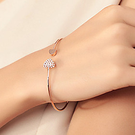 Cuff Bracelet Fashion Chic Lovely Gold Plated Rhinestone Heart Shape Bangle Pulseira Jewelry Prom Ornament Shixin Jewelry  Christmas Gifts