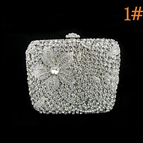 Damemote Flower Design Crystal Cocktail Purse (1367162) photo