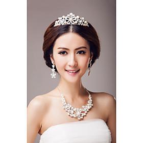 Fabulous legering og Rhinestone Wedding Bridal Jewelry Set (Inkludert Tiara, halskjede og ?redobber)