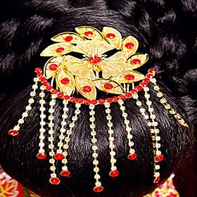 Elegant Chinese Gold Headdress for Weddings