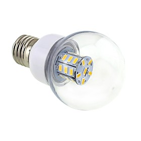 4W E26/E27 LED Globe Bulbs G60 27 SMD 5730 500 lm Warm White DC 12 / AC 12 / AC 24 / DC 24 V