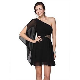 Blacks rembourrées de mousseline de soie de Sequins Robe asymétrique de toujours jolies femmes
