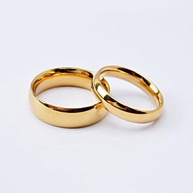 Women's Couple Rings Band Ring Titanium Steel