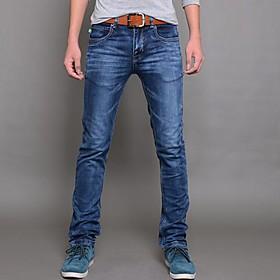 Hombres fuerza el?ica Delgado Jeans Pantalones L?z