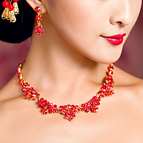 Elegant Chinese Red Necklaces for Weddings