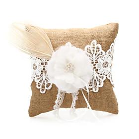 Ropa de boda anillo de almohada con el cord? la flor