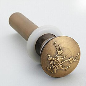 Faucet accessory Superior Quality Vintage Brass Pop up Water Drain Without Overflow Finish Antique Brass