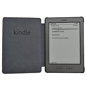 Business Style Slim PU Leather Cover Case for Amazon Kindle 4 Or Kindle 5 Ebook Ereader