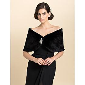 Fur Wraps / Wedding  Wraps Shrugs Faux Fur Ivory Wedding / Party/Evening / Casual