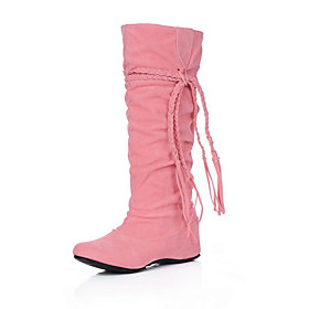 Women's Flat Heel Fashion Slouch Boots with Lace-up(More Colors)
