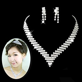 Women's Rhinestone Jewelry Set Include - Alloy For Wedding Party Special Occasion Anniversary Birthday Engagement Gift