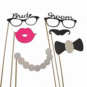 decoraci?e la boda accesorios divertidos tema de foto de la vendimia (6 piezas)