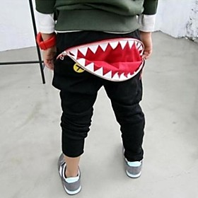 Moda Casual Zip Shark Teeth Haroun pantalones del muchacho