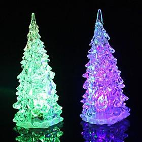 Coway Кристалл Рождественская елка Light Красочный светодиодной Night Light неб