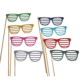 Wedding Décor Colorful Glasses Photography Photo Props for /Party (8 Pieces) 975031