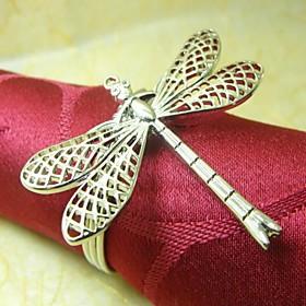 Dragonfly Napkin Ring, Metal, 4CM, Set of 12,