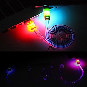 1M LED Smile Face USB Lighting Sync Data Charger Cable for iPhone 6 iPhone 6 Plus iPhone 5/5S (Random Color)