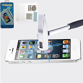 Anti-Shock Damage Protection Front Screen Protector with Microfiber Cloth and Scratch Card for Apple iPhone 5