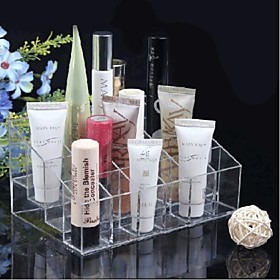 Acrylic Transparent 4x6 Quadrate Cosmetics Storage Stand Makeup Brush Cell Cosmetic Organizer