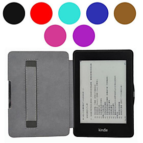 Hand Holder Style Leather Cover Case for Amazon Kindle Paperwhite 6 Inch Ebook