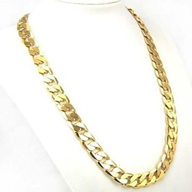 Men's Curb Chain Necklace - Gold Plated Personalized, Classic, Fashion Gold Necklace Jewelry 1pc For Daily, Casual, Sports