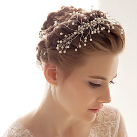 Alloy With Imitation Pearl Wedding/Special Occasion Headband