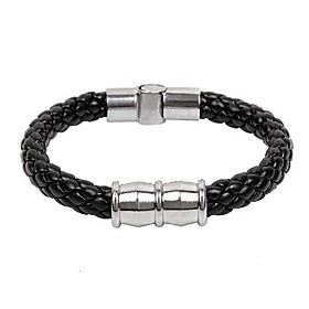 Men's Serpentine Punk Style Titanium Weave Bangle