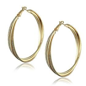 Alloy Big Hoop Fashion Earrings