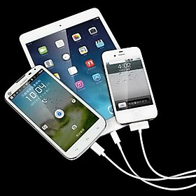 3 in 1 White USB Data Charger Cable for iPhone 6 iPhone 6 Plus iPhone 4/4S/5/5S/Samsung