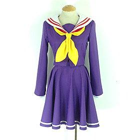 Inspired by No Game No Life Shiro Anime Cosplay Costumes Cosplay Suits School Uniforms Solid Colored Long Sleeves Cravat Coat Dress Socks 1562665