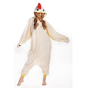 New Cosplay white Chicken  Polar Fleece Adult Kigurumi Pajama sale off 2015