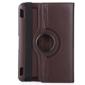 Neppt 360 Rotating Protective PU Leather Case for Kindle Fire HDX 7 Inch Tablet (Assorted Colors)