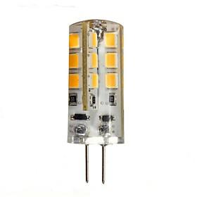 1.5W G4 LED Bi-pin Lights 24 leds SMD 2835 Warm White 130-150lm 2800-3200K DC 12V