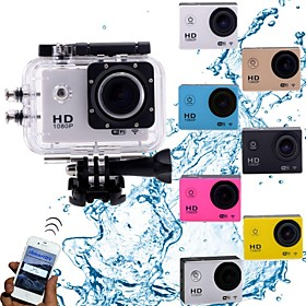 Wifi HD1080P Mini Action Camcorder 30m Waterproof/5.0 MP CMOS/1.5