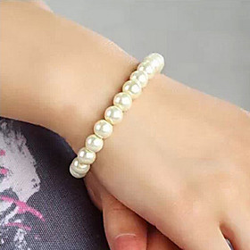 shixin Mode elastische weie Perle Strang Armband (1 PC)