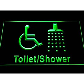 i1039 Disabled Shower Change Room Handicap Wheelchair Accessible Neon Sign