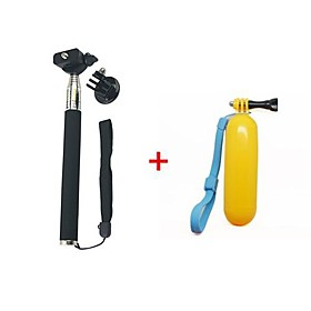 Gopro Handheld Monopod Tripod Mobile phone Monopod Tripod Mount Adapter Yellow Floating Handheld MonoPod