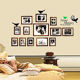 Wall Stickers Wall Decals, Modern Sweet memory frame PVC Wall Stickers