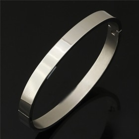 U7 Men's 316L Titanium Steel Cuff Bangle Bracelet Casual High Quality